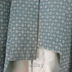 Vintage 60s Mens Silk Kimono Bathrobe 64 Long Handmade Fully Lined Made Japan