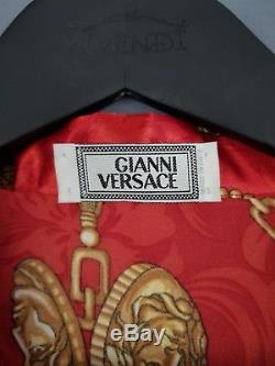 Vintage 90s Gianni Versace Silk Bathrobe Robe Mens Size M Medusa Head Baroque