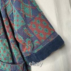 Vintage Christian Dior Bath Robe Colorful Rare Bathrobe Made In Turkey