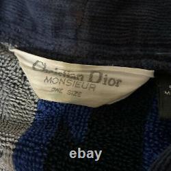 Vintage Christian Dior Bath Robe Monsieur One Size Rare Rainbow Colors