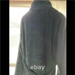 Vintage Gucci Bathrobe Dark Navy Color Over Silhouette Mens XL Size Rare