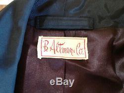 Vintage Men's Satin Bathrobe B. Altman & Co. Wise Robes of Distinction Size Smal