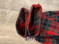 Vintage Pendleton Men's Robe Wool Mac Lean Tartan Bathrobe Red Green Size Large