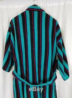 Vintage Pierre Cardin Heavyweight Terrycloth Bath Robe Tie Sash Belted Mens OS