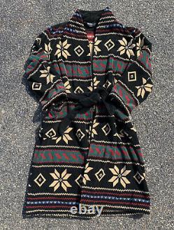 Vintage Polo Ralph Lauren Southwestern Aztec Print Mens Robe Bathrobe Size L XL