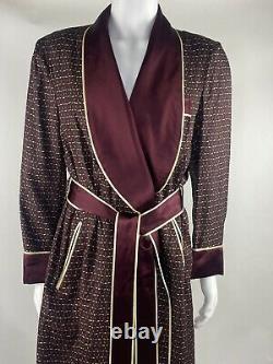 Vintage SULKA Bathrobe Dressing Gown 100% Silk with Belt & $1500 Price tag on! L