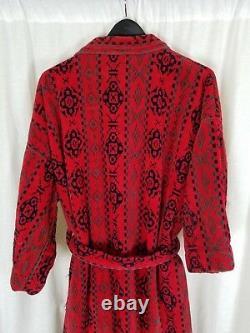 Vintage Southwestern Heavyweight Terrycloth Bath Robe Tie Sash Belted Mens S M