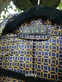 Vintage Sulka Mens Silk Bath Robe Mens Large