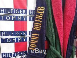 Vintage Tommy Hilfiger Bath Robe Spell Out Shower Multicolor Mens Size Large