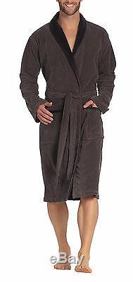 Vossen Men's Bath Robe Dressing Gown Maurizio Graphite