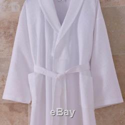 Waffle Weave White Bathrobe 200TC Summer Dressing Gown Hotel Quality Lot
