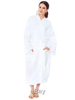 Wholesale Pack of 4 Lightweight Cotton Lounge Waffle Weave Spa Robe Bathrobe