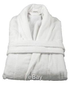 Wholesale Terry Towelling Hotel Quality White Bathrobes Large Size Unisex x 10