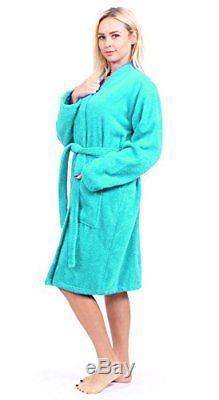 Women's Terry Cloth Bathrobe Robe Kimono 100 % Turkish Cotton Eco Friendly