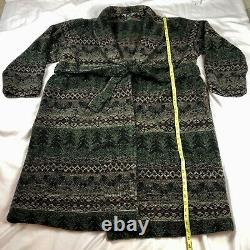 Woolrich Robe Bathrobe Mens XL / XXL Lodge Cabin Forrest Long Belted Pockets